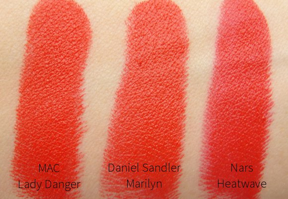 orange red lipsticks